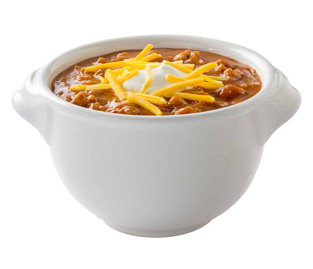 Image of a bowl of Braum's chili