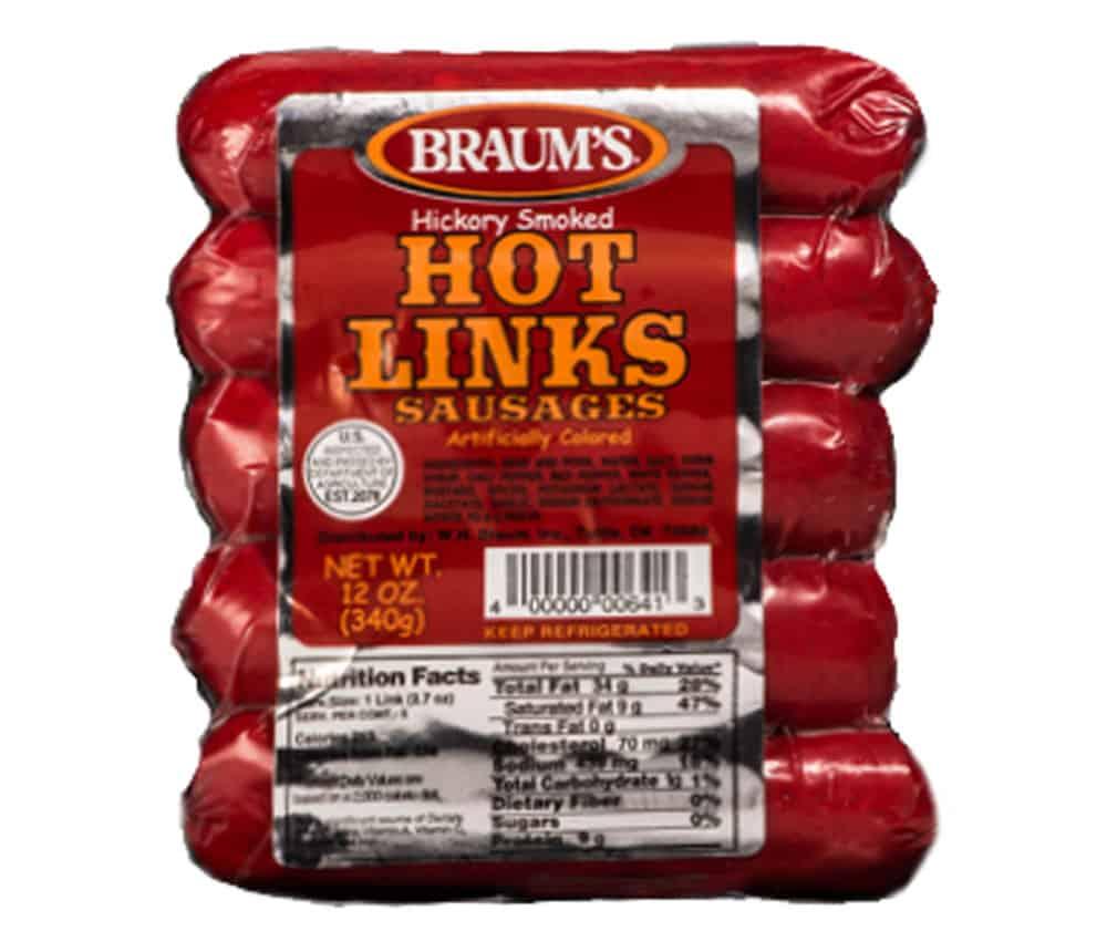 Bar S Classic Hot Links Sausage, 24 Oz. - Walmart.com