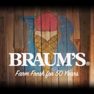 Braum's B Cone Logo